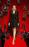 Черное платье-жакет длины мини из новогодней коллекции,Белорусская одежда