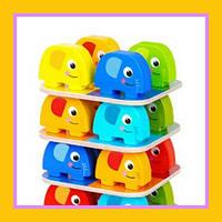 Первая развивающая настольная игра для детей Tooky Toy Изучаем цвета Слоники