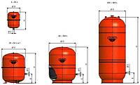 Расширительный бачок Zilmet для систем отопления 35 л (cal-pro, 4bar)