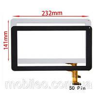 Сенсорный экран (тачскрин) планшет Impression ImPad 9213, #0926A1-HN, (232141), 50pin, черный, фото 1