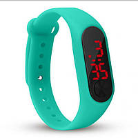 LED наручний спортивний годинник, силіконовий ремінець, металева застібка