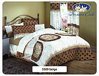 Одеяло из овечьей шерсти в сатине 140x205 см.