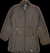 Женское демисезонное (еврозима) черное спортивное пальто Adidas