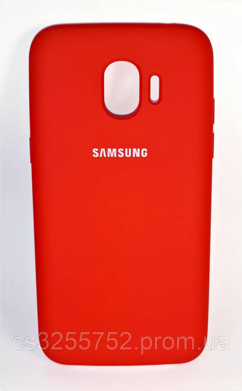 Накладка Silicone Cover for Samsung J2 2018 (J250) Red