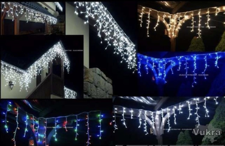 Новорічна гірлянда на будинок,бахрома,500 LED Луцк
