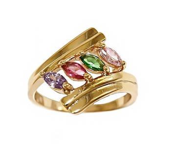 Кольцо фирмы Xuping.Цвет: позолота .Камни: циркон разных цветов . Есть 16р. 20р. 20