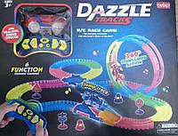 DazzleTracks 134 детали. Гибкая игрушечная дорога,одна машинка с пультом дистанционного управления.