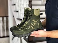 Мужские зимние высокие ботинки из натурального нубука с 40 по 46 размер