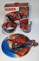 Набор стеклянной детской посуды Metr+ Человек Паук