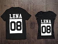 Парные именные футболки ( Все ЦВЕТА ) №38