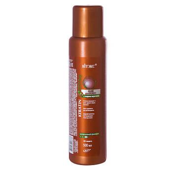 ЛАК для волосся з рідким кератином суперсильной фіксації 500 мл.