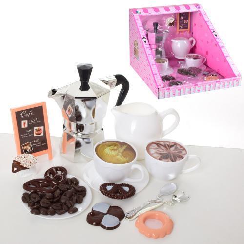 Кофейный сервиз детский набор на 2 персоны 720A со сладостями