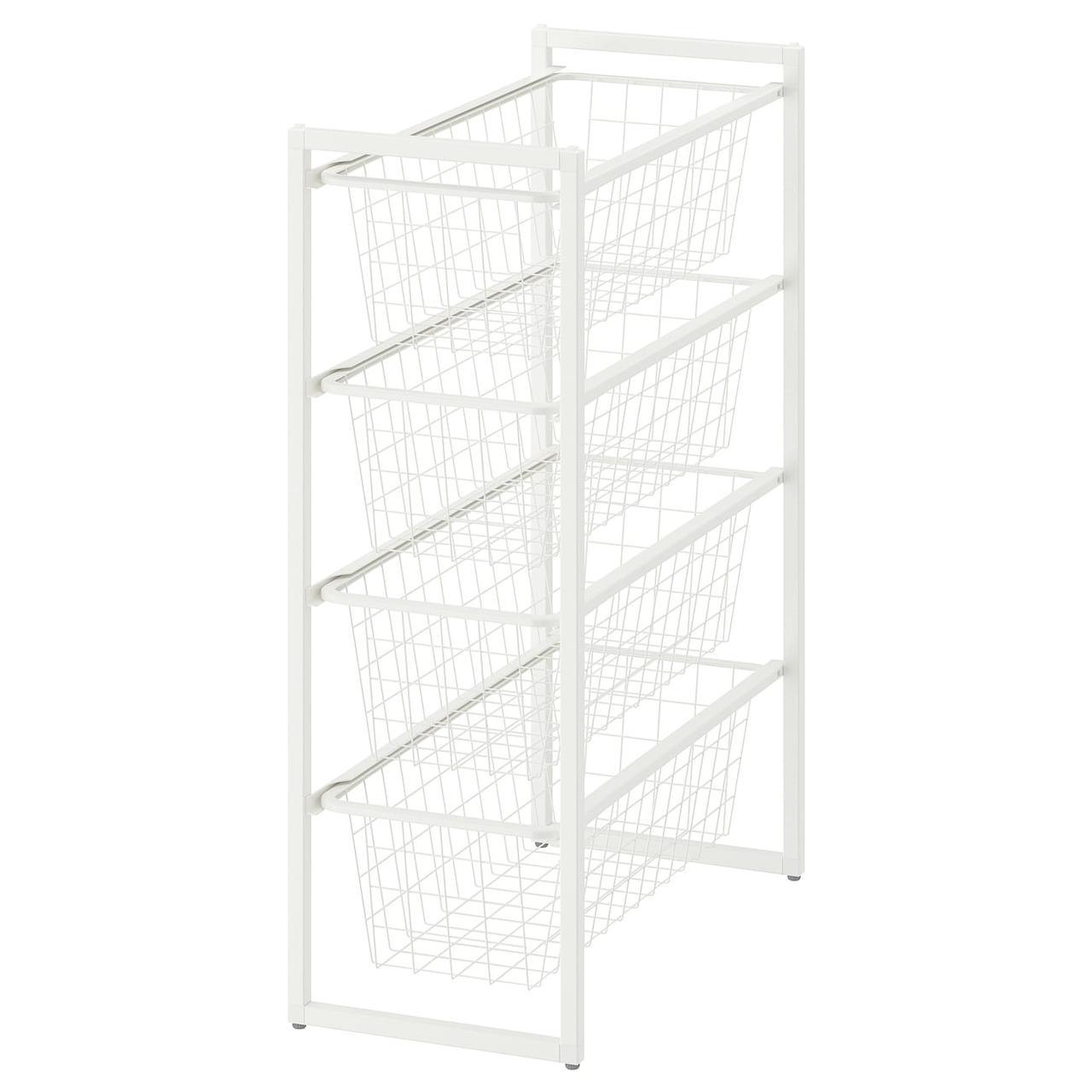 Рама с проволочными корзинами IKEA JONAXEL белый 892.971.30