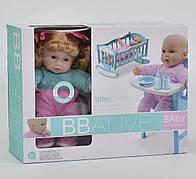Кукла Пупс Baby Born беби берн  - со стульчиком для кормления, горшок, бутылочка, соска YL2007A-С