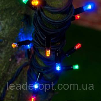 """[ОПТ] Вулична новорічна світлодіодна гірлянда """"Нитка"""" (String) на дроті 100LED на 10 м, різнокольорова"""
