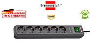 Сетевой фильтр удлинитель Brennenstuhl 13.500A, на 6 розеток, кнопка, индикатор, оригинал кабель 1,5m
