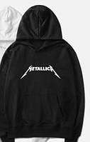 """Худи толстовка Metallica черная с логотипом, унисекс (мужская,женская,детская) """""""" ТОП Реплика """""""""""
