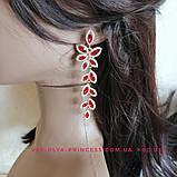 Комплект чорні сережки і браслет, висота 8,5 див., фото 6