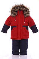 Зимний костюм для мальчика Классика красный