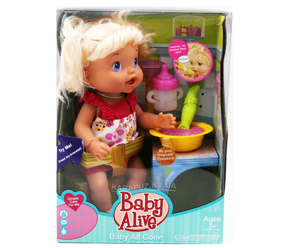 """Кукла функц """"BABY ALIVE"""" 807B-5 муз, функц ложка"""