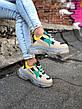Кроссовки мужские Balenciaga Triple S серые-желтые (Top replic), фото 4