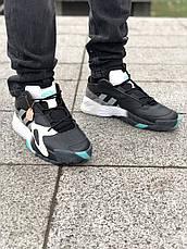 Кроссовки мужские Adidas Streetball черные-бирюзовые (Top replic), фото 3