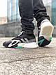 Кроссовки мужские Adidas Streetball черные-бирюзовые (Top replic), фото 2