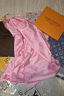 Палантин Louis Vuitton розовый