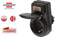 Розетка уличная влагозащищенная IP44 Brennenstuhl EDS 10 с переключателем Вкл/Выкл, оригинал