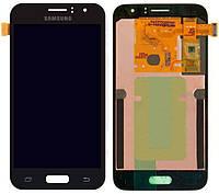 LCD экран+тачскрин Tina Samsung J120, J1 (2016) (TFT) с регулировкой яркости черный
