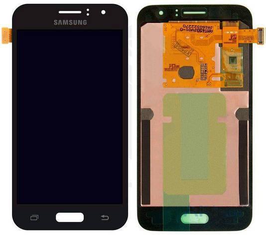 LCD экран+тачскрин Tina Samsung J120, J1 (2016) (TFT) с регулировкой яркости черный, фото 2