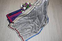Палантин Louis Vuitton двухсторонний с полоской серый