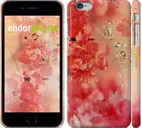 "Чехол на iPhone 6 Plus Розовые цветы ""2461c-48"""