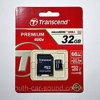 Карта памяти Trancend mSD 32GB  + SD ADAPTER