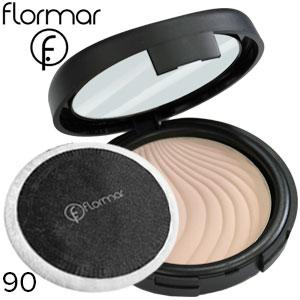 FlorMar - Пудра компактная Compact Powder Тон 90 medium rose, бежево розовая