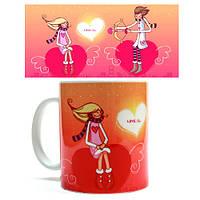 Чашка подарок на День Валентина