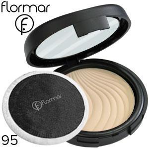 FlorMar - Пудра компактная Compact Powder Тон 95 light porcelain beige, светло бежевая