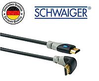 HDMI кабель v2.0 Schwaiger высокоскоростной с Ethernet Видео Звук позолоченные коннекторы 1,5 м