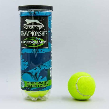 Мяч для большого тенниса SLAZ (3шт) BT-8381 CHAMPIONSHIP (в вакуумной упаковке) Replika, фото 2