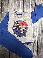 Пижама теплая для мальчика Собачки 92-122 см