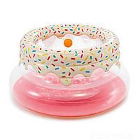 Надувной игровой центр - манеж Intex «Пончик» 48476, 127*61 см