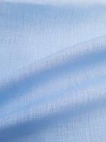 Льняная сорочечная ткань небесно - голубого цвета, фото 1