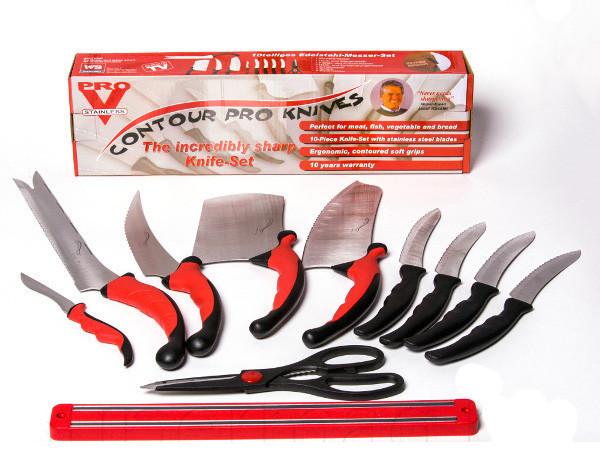 Набор кухонных ножей Contour Pro Knives + магнитная рейка