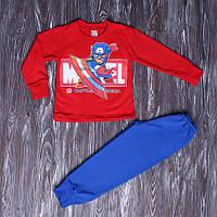 Теплая пижама для мальчика Человек Паук с начесом 98-128 см