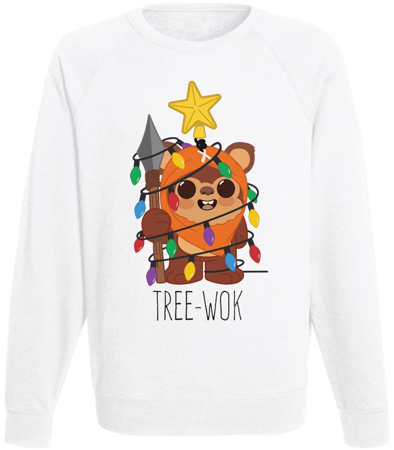 Мужской свитшот Tree-Wok (белый)