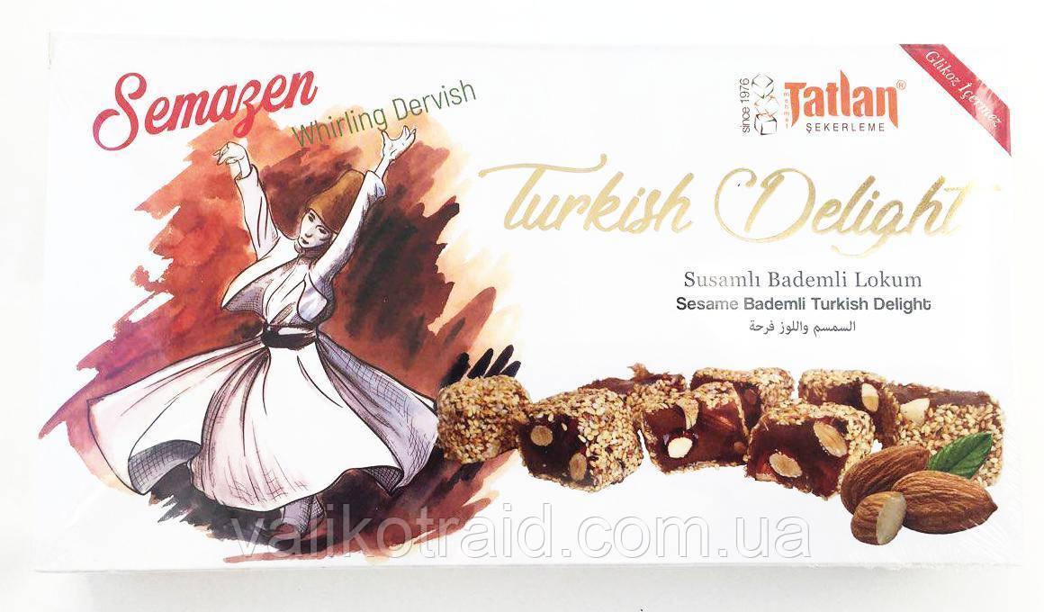 Лукум в кунжуте  с цельным миндалем TATLAN, 330 гр, турецкие сладости