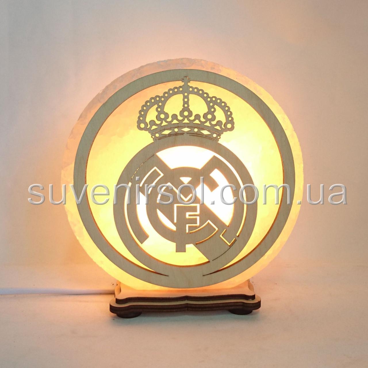 Соляной светильник круглый Реал Мадрид