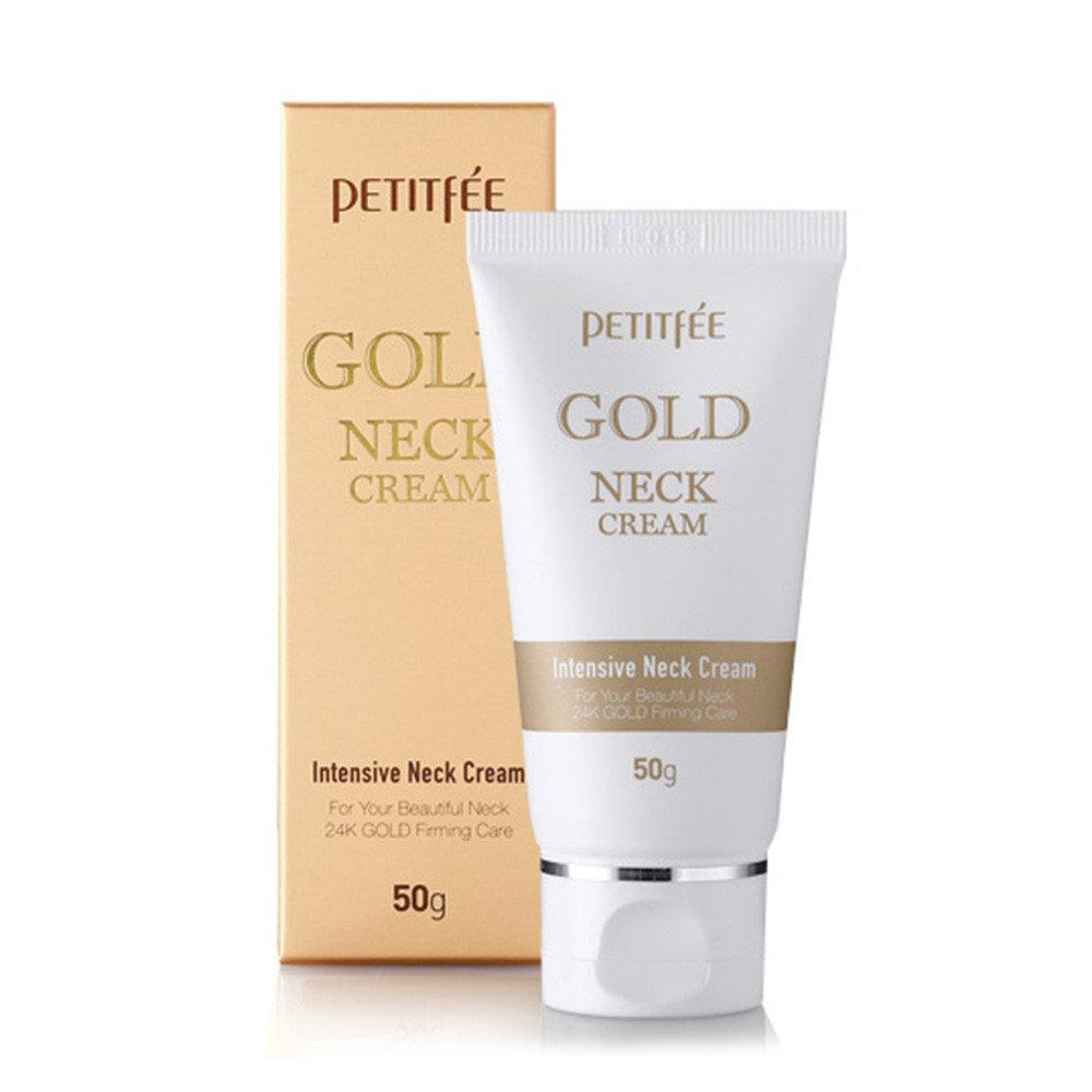 Антивозрастной крем для шеи с золотом PETITFEE Gold Neck Cream