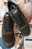 New Balance Winter! Женские  зимние кожаные коричневые полуспортивные ботинки Nb  очень удобные, фото 2