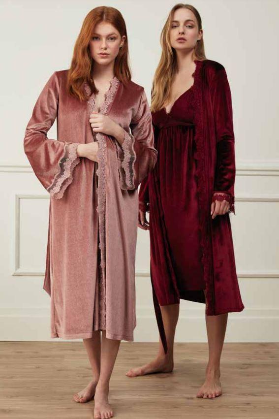 Комплект из халата и сорочки. FEYZA.3518.Турция